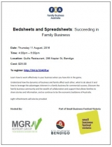 Bedsheets and Spreadsheets: Succeeding in Family Business